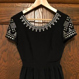Urban Outfitters Studded Black Mini Dress